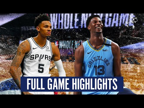 SAN ANTONIO SPURS vs  MEMPHIS GRIZZLIES – FULL GAME HIGHLIGHTS | 2019-20 NBA Season