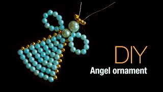 DIY Christmas Angel Ornaments 2019 |Holiday Room Decor | ANGELITOS NAVIDEÑOS |Beads Art