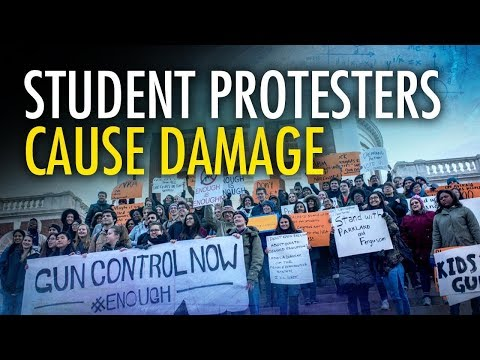 Student Gun Control Protesters Rip Down American Flag | Campus Unmasked