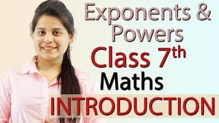 """""""Exponents and Powers"""" Chapter 13 - Introduction - NCERT Class 7th Maths Solutions"""