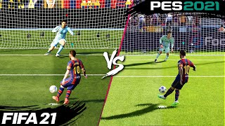 FIFA 21 vs. PES 2021: Penalty Kicks | 4K
