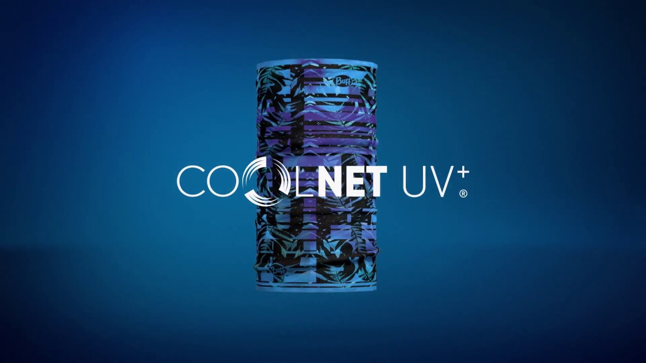 Видео Бандана Buff Coolnet UV+ keren flash pink