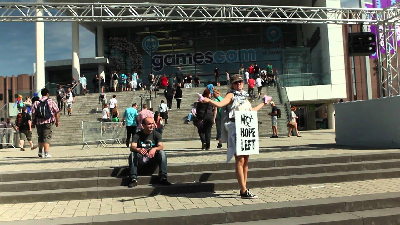 Standbild aus Reportage: Eingang zur Gamescom