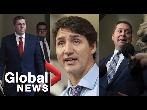 PM Trudeau meets with Conservative leader Andrew Scheer, Saskatchewan's Scott Moe