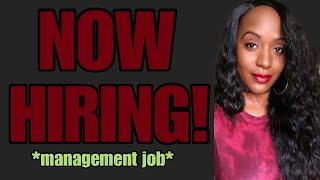 New Flexible Work From Home Management Job!