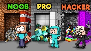 Minecraft - SECRET VAULT CHALLENGE! (NOOB vs. PRO vs. HACKER)