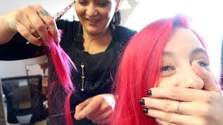 CUT ALL MY HAIR OFF!!