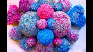 Huge shining soap balls. crumbly balls from little curls. Very relax sound.