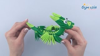"""Набор для творчества ЗD оригами """"Дракончик"""" 145 модулей от компании Интернет-магазин """"Радуга"""" - школьные рюкзаки, канцтовары, творчество - видео"""