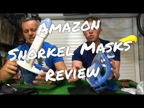 """AMAZON SNORKEL MASKS REVIEW """"AUTOXEL"""" & """"UNIGEAR"""" fullface snorkel mask"""