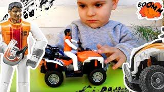 Распаковка игрушек Квадроцикл Bruder с фигуркой водителя 63000 Видео для детей Машинки #Bruder
