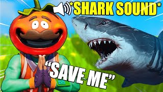 I Pretended a SHARK Attacked Me During Fortnite Games