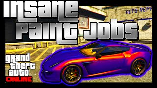 GTA 5 Online: SECRET Paint Jobs - FADE, MARBLE, GLOWING YELLOW! BEST Paint Jobs (GTA V)