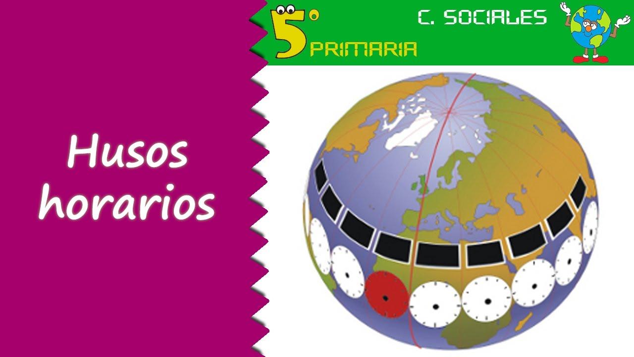 Husos horarios. Sociales, 5º Primaria. Tema 2