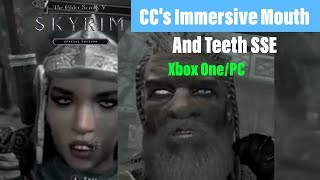 Skyrim SE Xbox One/PC Mods|CC's Immersive Mouth And Teeth SSE