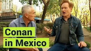 Conan O'Brien Tells Jorge Ramos How Mexicans Refused to Give Him a Single Peso for the Border Wall