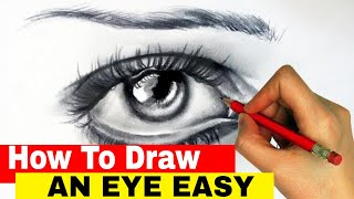 How To Draw A Realistic Human Eye  | How to draw eyes for beginners | Artist Aji
