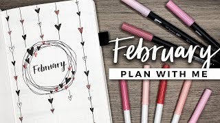 PLAN WITH ME | February 2018 Bullet Journal Setup