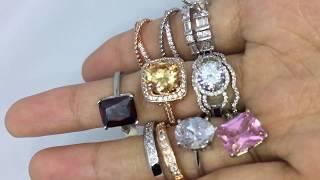 Set Cincin 2 Pcs Lapis Emas Putih Berlian Solitaire Imitasi - BR203