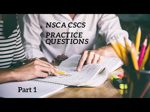 NSCA CSCS Practice Questions - Part 1REVIEW and ... - YouTube