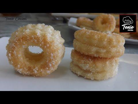 Rosquillas de Hojaldre, fáciles y rápidas - Receta económica
