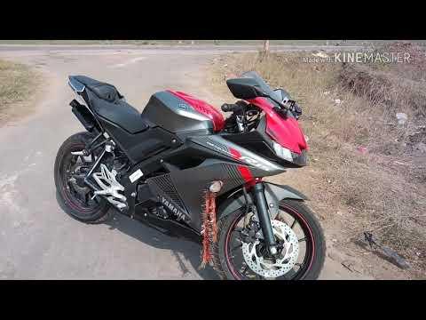 New Yamaha R15 v3 modified With CUSTOM WINGLET and VISOR