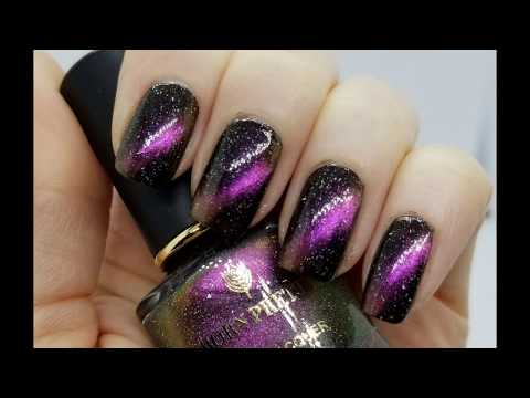 Cat Eye Nail Design With Magnetic Polish - How To