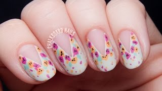 TUTORIAL: Easy Splattered Floral Nail Art