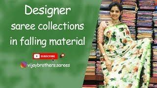 Falling Fabric With Designer Sarees Collection   Vijaybrothers Saree Showroom  7093370882,8464027097