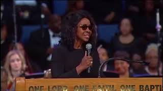 "Gladys Knight at Aretha Franklin funeral ""You'll Never Walk Alone/Bridge Over Troubled Water"" (2018)"