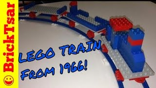 LEGO Samsonite 111 Starter Train Set from 1966 - one of the first Lego train sets