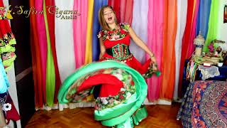 Roupas Ciganas   Gypsy Clothing   La Roupa Gitana   Conjunto Vermelho E Verde Depoimento