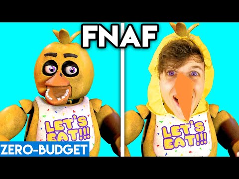 FIVE NIGHTS AT FREDDY'S WITH ZERO BUDGET! (ft. CHICA, FOXY, FREDDY, & MORE!) *FNAF FUNNY PARODY*