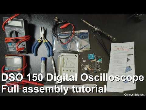 Banggood DSO150 15001K DIY Oscilloscope Assembly Walkthrough
