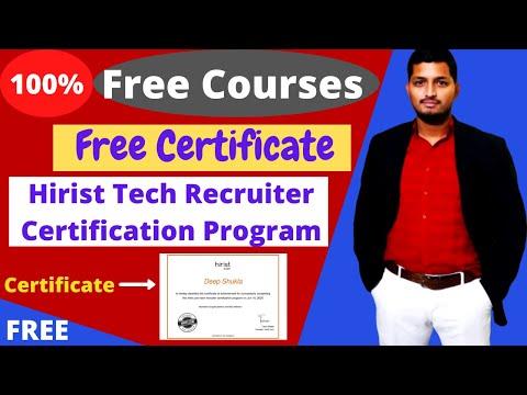 Hirist Free Tech Recruiter Certification Program with Free Certificate ...