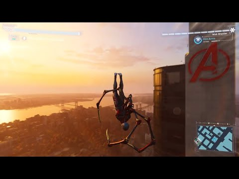 Spider-Man PS4 - Jumping Off 3 Highest Buildings In Spiderman 2099 Suit (All Weathers) PS4 Pro