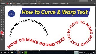 how to curve & warp text - illustrator tutorial