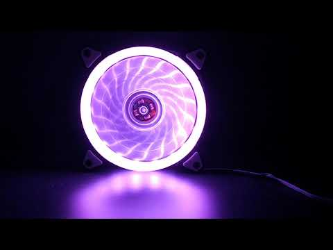 Aurora Effect 120mm 12V 4pin D-Type+3pin DC Brushless PC Casing Cooling Single Side LED Fan