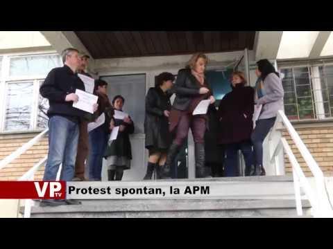Protest spontan, la APM