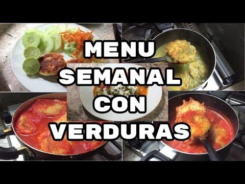 Menú Semanal #12/MENU CON VERDURAS ECONOMICO/FABI CEA
