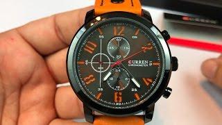 Curren 8192 Analog Quartz Orange Watch by Fizili review - giveaway Oct 15, 2016