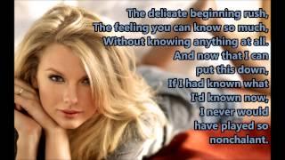 Come Back Be Here Taylor Swift lyrics