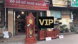 Combo: Kệ Tivi Cột Nho 2m4 hàng Víp, Đồng hồ cây tứ trụ |A hải - Thanh Hóa| Dogobaoloc