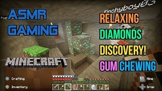 ASMR Gaming | Minecraft Relaxing Diamonds Discovery! Gum Chewing 🎮🎧Controller Sounds😴💤