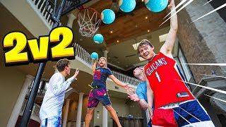 INSANE NBA Mini Hoop DUNKS ONLY 2V2 with 2HYPE House !!