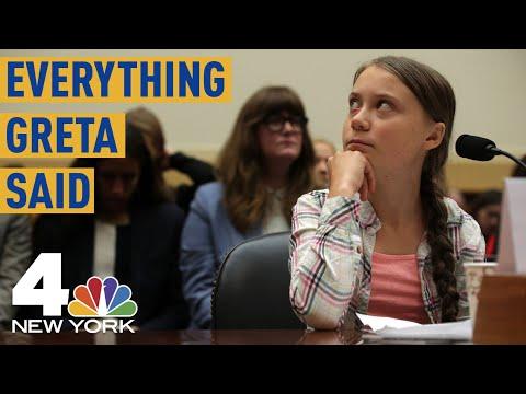Everything Climate Activist Greta Thunberg Said Before Congress | NBC New York