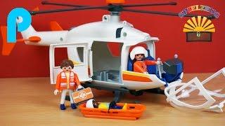 Rettungshelikopter 6686 - Playmobil City Life - Film Hubschrauber Krankenhaus auspacken