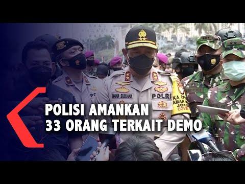 polisi amankan orang terkait demo