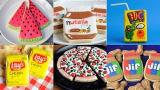 BEST DECORATED COOKIES THAT LOOK LIKE OTHER FOODS, COMPILATION, HANIELAS