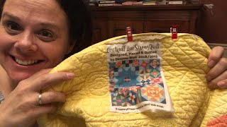 How to make a quilt label and stitch it on